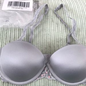 NWT VS Pink 32C Multi Way Gray push up gray